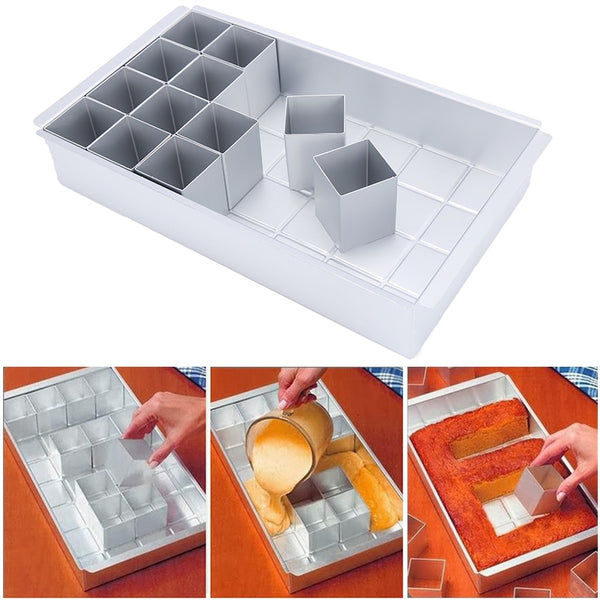Non-Stick Celebrations Letters & Numbers Bakeware Maker Set Cutter Pan Mold Aluminum alloy Baking Mold Bakeware For Kitchen