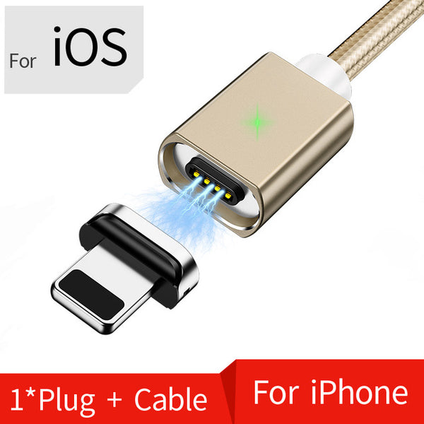 OLAF 2M Magnetic Micro USB Cable For iPhone Samsung Fast Charging Data Wire Cord Magnet Charger USB Type C 3A Mobile Phone Cable