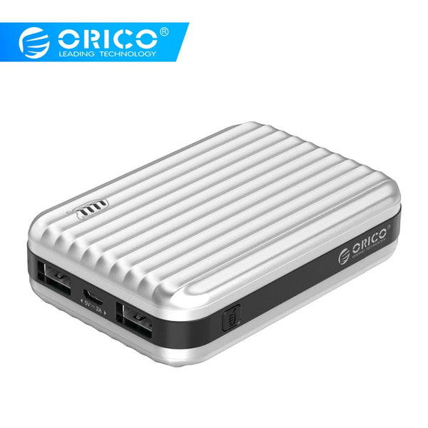 ORICO 10000mah Portable Power Bank 5V2A 12W Dual Output External Battery Charge for Xiaomi Huawei Mobile Phone Tablet
