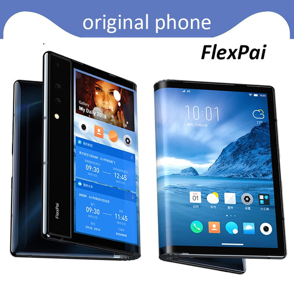 "Original Royole FlexPai Foldable Smart Phone 4G Android 9.0 Octa-Core 6GB+128GB 7.8"" Flexible AMOLED Screen Snapdragon 855"
