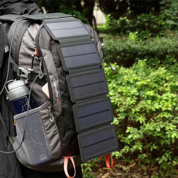 Outdoor Solar Charger Portable Universal Digital Product Rechargeable Solar Folding Bag Hiking Gear