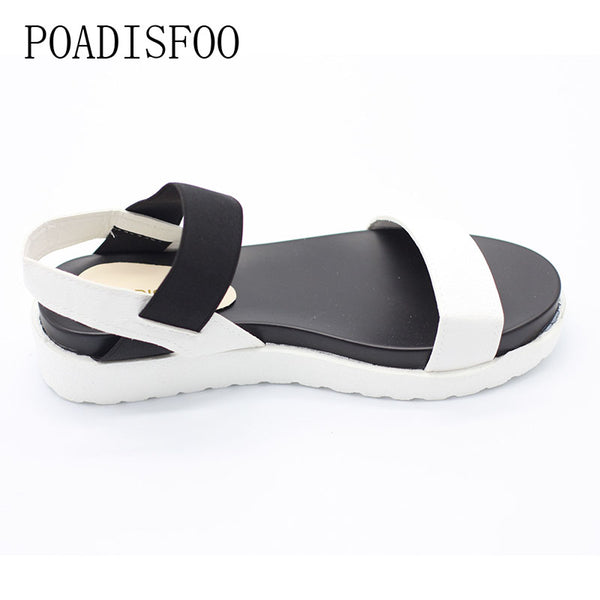 New Spring Summer Women sandals female robe thick platform buckle with Roman light Black sandals  shoes  .HYKL-810