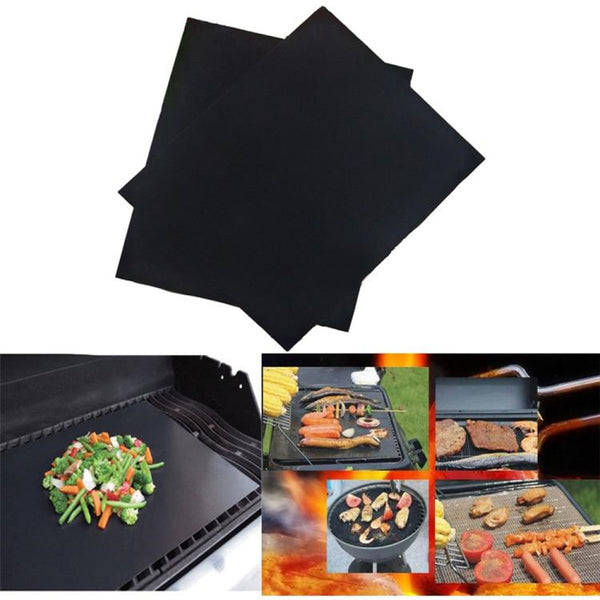PTFE Non-stick BBQ Grill Mat Barbecue Baking Liners Reusable Teflon Cooking Sheets 33x40cm Heat Resistant Grill Mat Cooking Tool