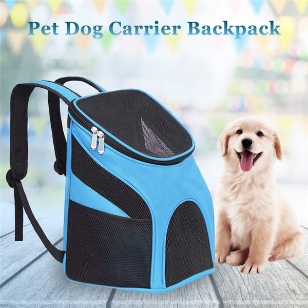Pet Carrier Backpack Dog Cat Outdoor Travel Carrier Packbag Portable Zipper Mesh Backpack Breathable Dog Packets