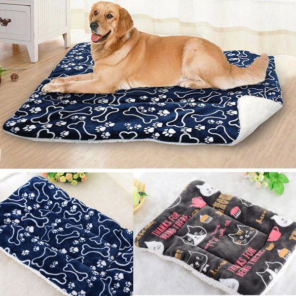 Pet Large Dog Blanket Bed Washable House Puppy Cushion Large Dog Cage Mat Mattress Kennel Soft Crate Multifunction Mat
