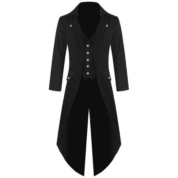 Plus Size Men 's Coats Steam Punk Retro Tuxedo Gentleman Long Jackets Suits Classic Club Prom 2017 Autumn Winter Windbreaker