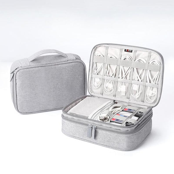 Portable Electronic Accessories Travel case,Cable Organizer Bag Gear Carry Bag for Cables USB Cable Organizer etc. Fit for iPad