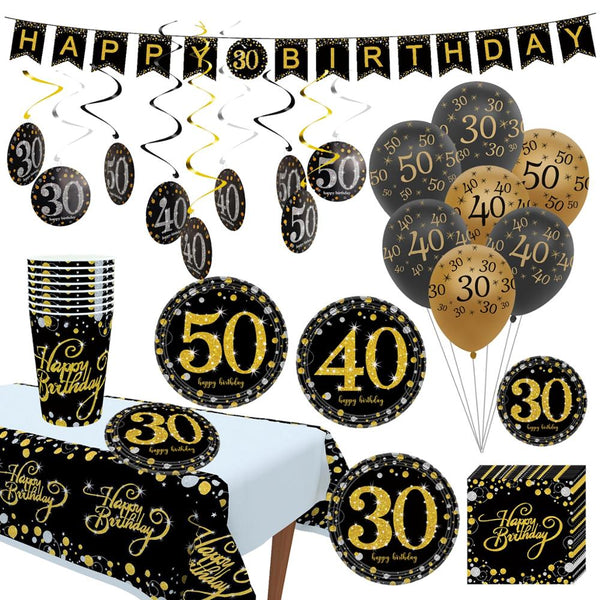 QIFU 10pcs 12inch Birthday Balloons Air Balls 30 40 50 Birthday Party Decorations Adult Kids Helium Balloon Foil Latex Baloon