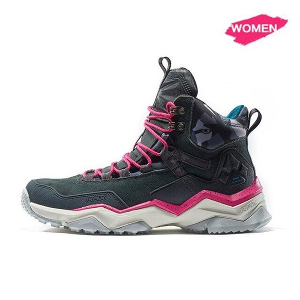 RAX New Waterproof Hiking Boots For Men Outdoor Mens Hiking Shoes Mountain Shoes Women Climbing Boots Breathable Trekking Shoes