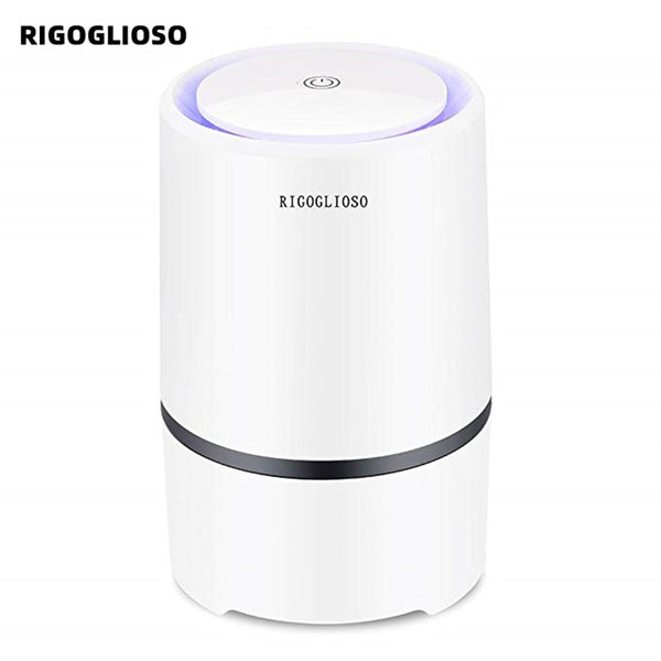RIGOGLIOSO Air Purifier Air Cleaner for Home HEPA Filters 5v USB  cable Low Noise Air Purifier with Night Light Desktop GL2103