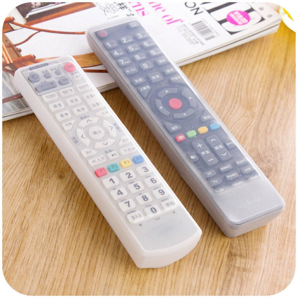 Remote Control Cover Silicone Transparent TV Remote Control Case Air Conditioning Dust Protect Storage Bag