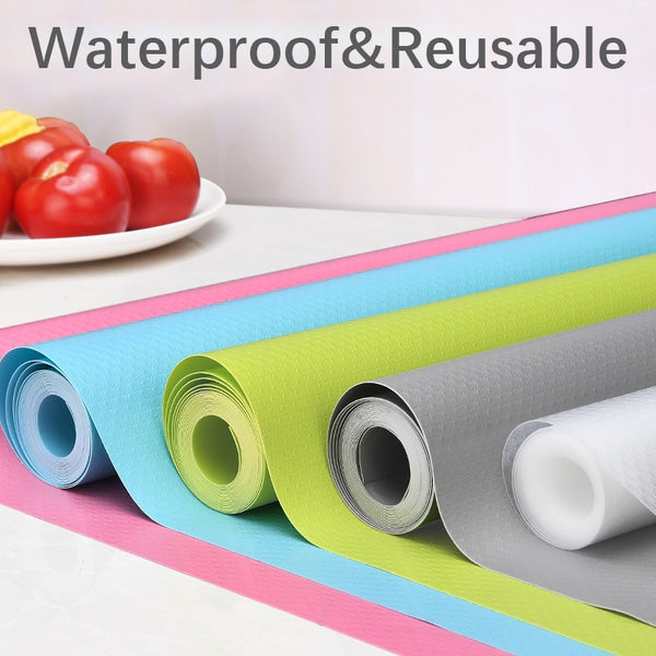 Reusable Shelf Cover Liners Cabinet Mat Drawer Mat Moisture-Proof Waterproof Dust Anti-Slip Fridge Kitchen Table Pad Paper