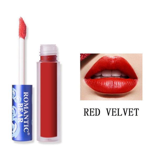 Romantic Bear Brand Makeup Lipstick Matte Batom Long Lasting labiales Rouge A Levre Mat Liquid Make up Matte Lip stick