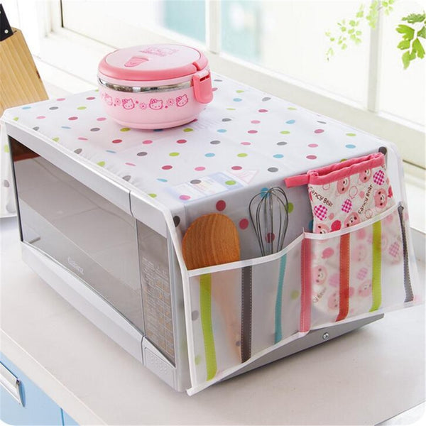Romantic Microwave oven cover with Two Side Pocket dustproof cotton cloth cover romantic style microwave oven set Waterproof