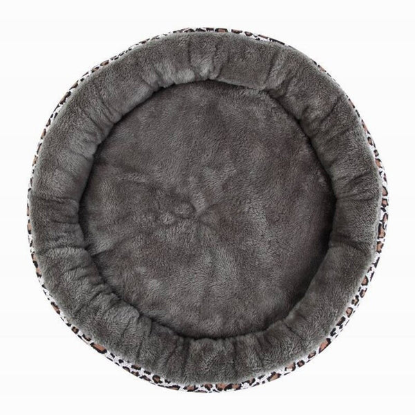 Round Pet Beds For Small Dogs Soft Velvet Puppy Chihuahua Kennel Cat Mat Cushion House Thick Warm Dog Pad Cozy Nest