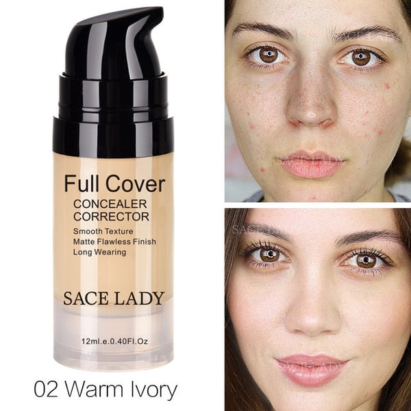 SACE LADY Face Concealer Cream Full Cover Makeup Liquid Facial Corrector Waterproof Base Make Up for Eye Dark Circles Cosmetic