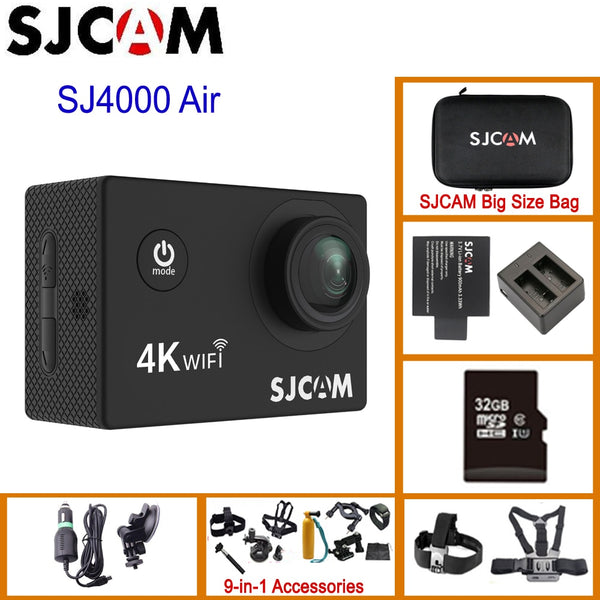 "SJCAM SJ4000 AIR 4K 30fps Action Camera Full HD Allwinner Chipset 4K WiFi Sport DV 2.0"" Mini Helmet Camera Waterproof Sports DV"