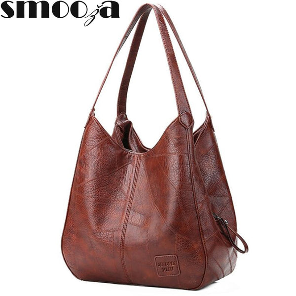 SMOOZA Vintage Womens Hand bags Designers Luxury Handbags Women Shoulder Bags Female Top-handle Bags Fashion Brand Handbags