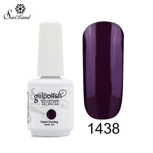 Saviland 1pcs UV Gel Nail Polish 15ml Shiny Hot Nail 58 Colors for Choose Soak Off Gel Lacquer Nail Art Gel Varnishes