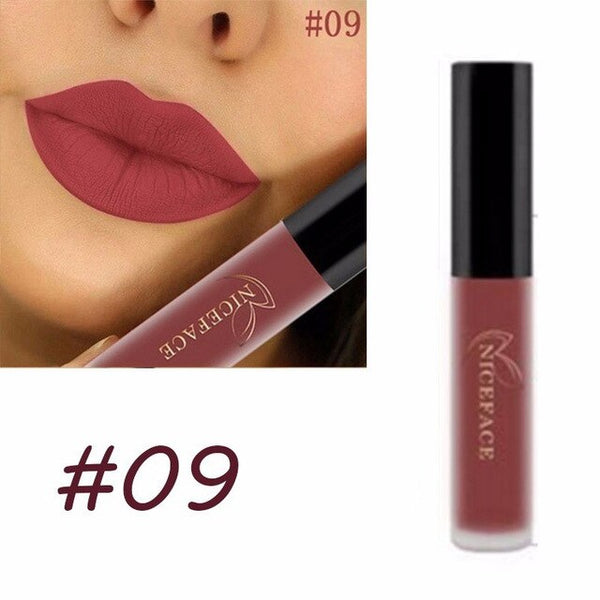 Sexy 28 Colors Matte Lipgloss Sexy Liquid Lipstick Matte Long Lasting Waterproof Cosmetic Beauty Keep 24 Hours Makeup Lipgloss