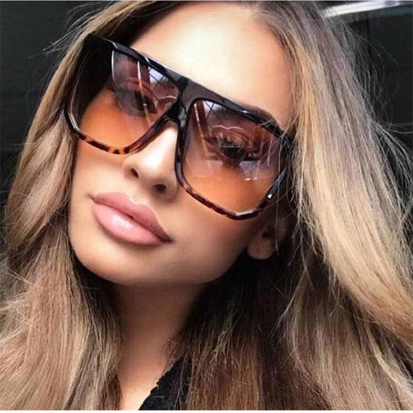 Sexy Square Sunglasses Women Fashion Brand Oversized Sun Glasses Female Black Brown Shades for Men Ladies Lunette Femme Oculos
