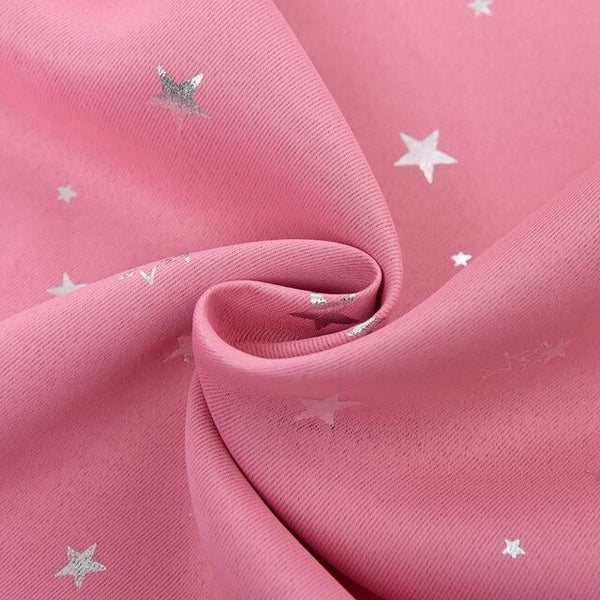 Shiny Stars Children Cloth Curtains For Kids Boy Girl Bedroom Living Room Blue/Pink Blackout Cortinas Custom Made Drapes 123&30