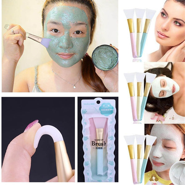 Silicone Facial Mask Makeup Brushes Face Skin Care Mixing Mud Brush Beauty Applicator Make up Soft Silica Gel Makeup Brush Tool