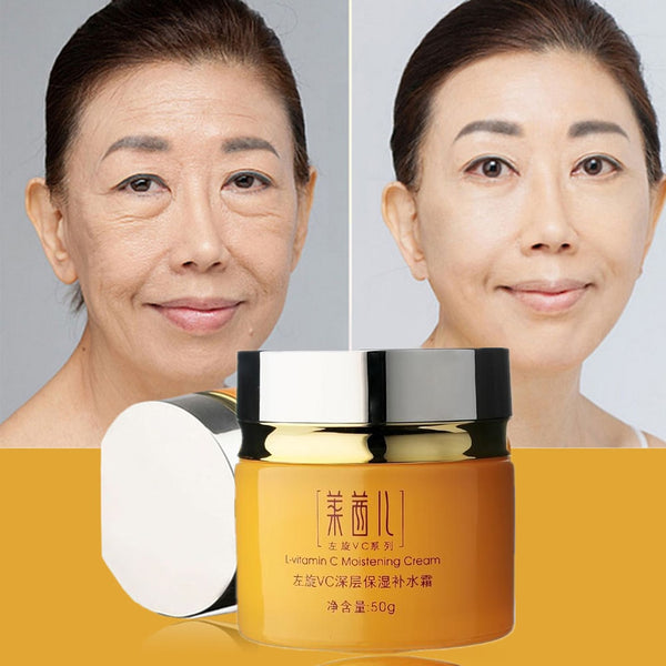 Skin Care Vitamin C Cream For Anti-Aging Anti Wrinkle Moisturizing Whitening Tightening Beauty Face Cream Korean Cosmetics