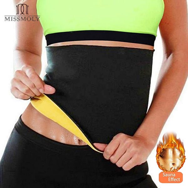 Slimming Waist Trainer Weight Loss Pants Neoprene Body Shaper Corsets Cincher Belt Promote Sweat Fitness Women  Sauna Suit