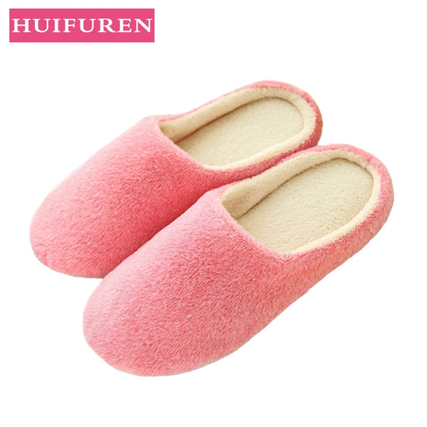 Slippers Women Indoor House plush Soft Cute Cotton Slippers Shoes Non-slip Floor Home Slippers Women Slides For Bedroom