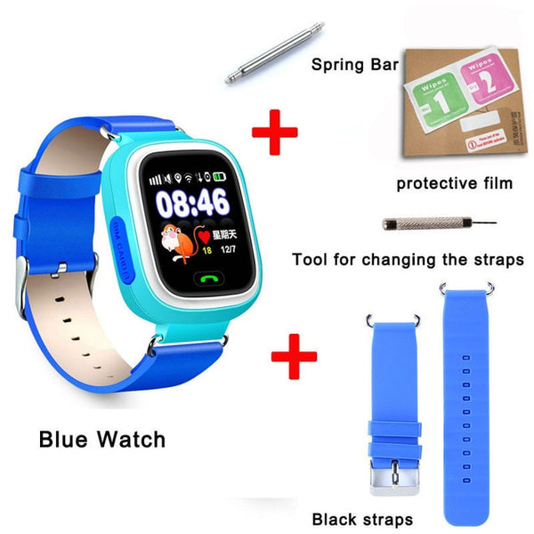 Smart baby Watch Q90 WIFI Touch Screen GPS Tracker kids smart watch for kids safe SOS call Location devices Anti-Lost reminder