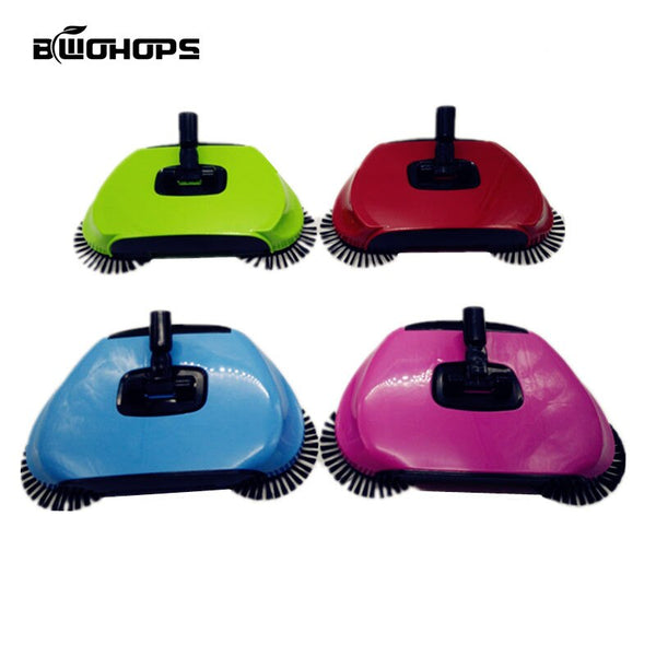 Spinning Broom Brush Magic Broom Sweeping Machine Without Electricity Hand Push Household Sweeper Dustpan Hard Floor Vassoura