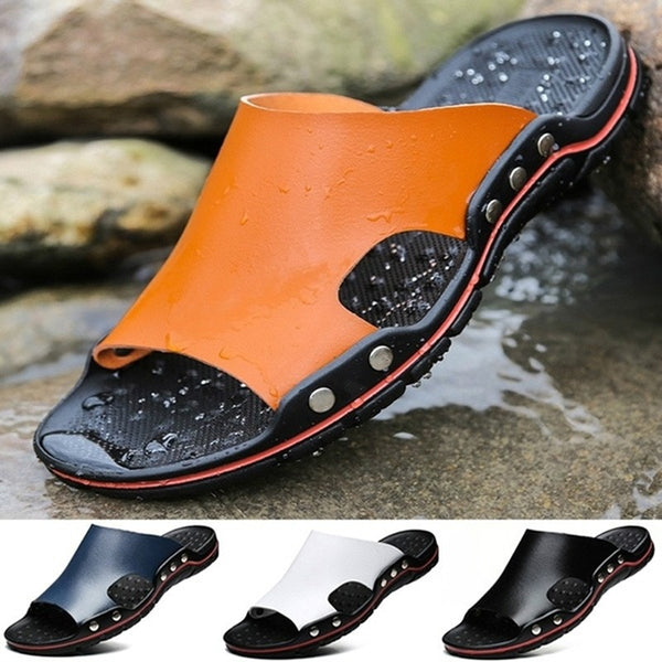 Summer Cool Water Flip Flops Men High quality Soft Massage Beach Slippers Fashion Man Casual Shoes