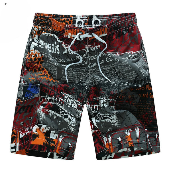 Summer Style Men Shorts Beach Short Breathable Quick Dry Loose Casual Hawaii Printing Shorts Man Plus Size 6XL
