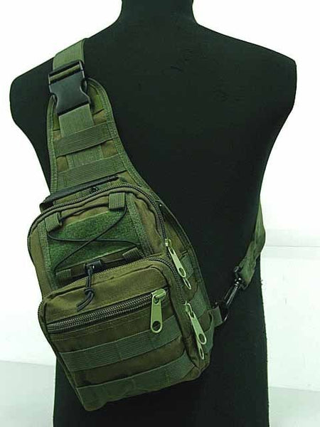 Tactical Molle Utility Gear Shoulder Sling Bag Olive drab BK ACU Coyote brown Digital camo woodland S