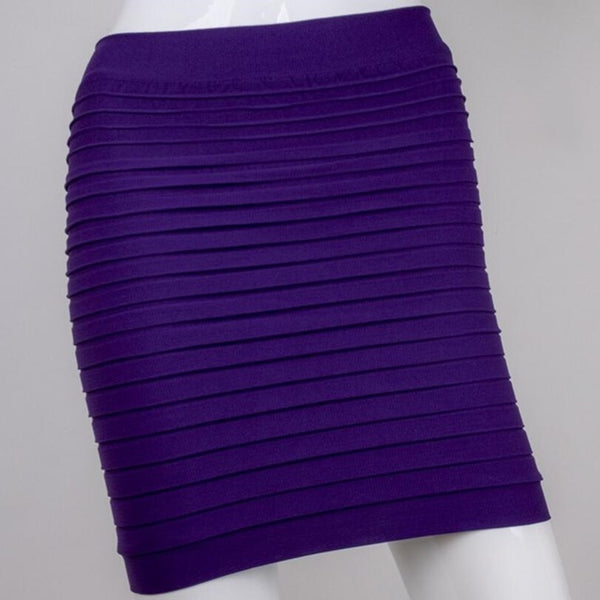 The Most Cheap New Color Fashion Summer Ladies Skirt High Waist Candy Color Plus Large Elastic Pleated Skirt A-Line Skirt