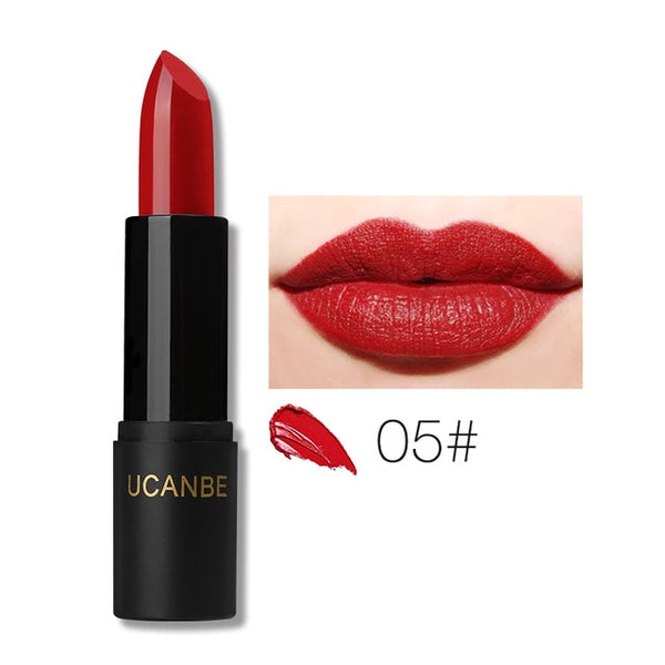 UCANBE Brand 8 Colors Moisturizing Smooth Lipsticks Makeup Matte Shimmer Waterproof Long Lasting Lips Stick Gloss Cosmetics Set