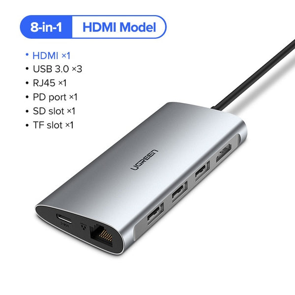 Ugreen Thunderbolt 3 Dock USB Type C to HDMI HUB Adapter for MacBook Samsung Dex Galaxy S10/S9 USB-C Converter Thunderbolt HDMI