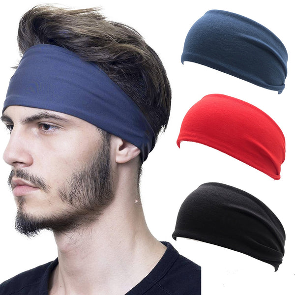 Unisex Solid Color Sport Yoga Headband Men Women Stretch Outdoor Fitness Head Bands Fashion Summer Hair Elastic Bands Hairband
