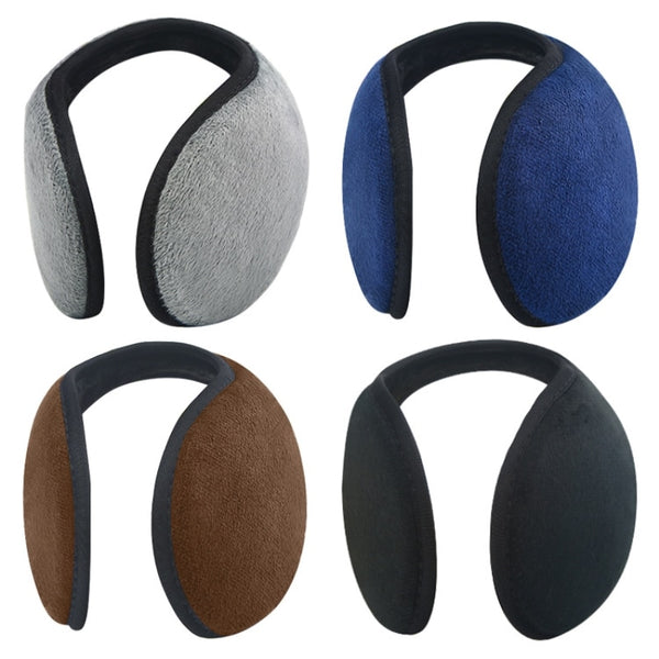 Unisex Solid Winter Earmuffs Women Men Ear Cover Protector Thicken Plush Soft Warm Earmuff Warmer Gift Apparel Accessories