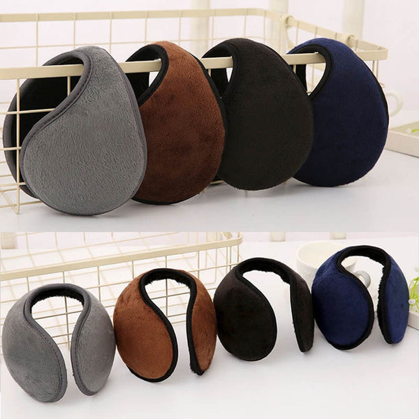 Unisex Solid Winter Earmuffs Women Men Ear Muff Soft Thicken Plush Ear Cover Protector Ear Warmer Earlap Apparel Accessories