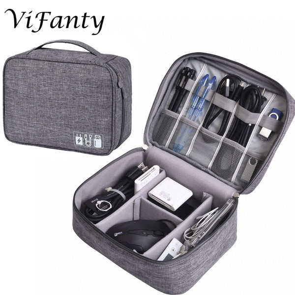 Universal Electronics Accessories Organizer, Waterproof Portable Cable Organizer Bag, Digital Gadget Organizer Case, Travel Gear