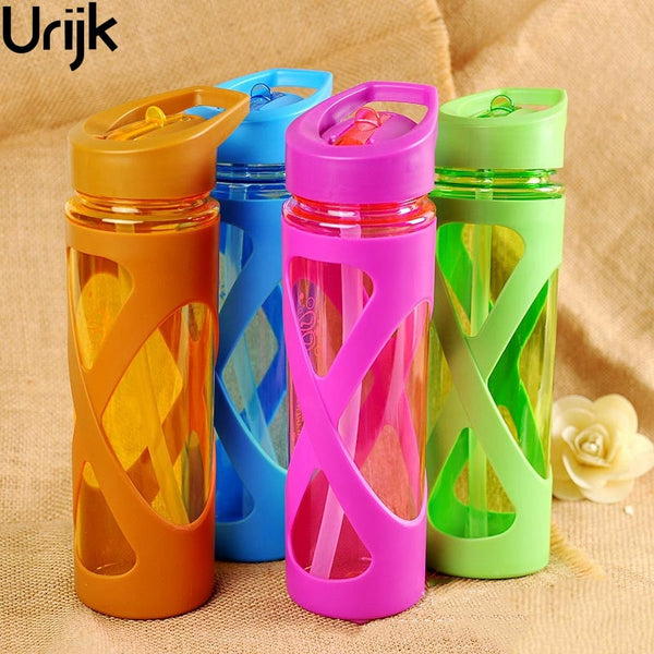 Urijk 580ml New Sport Water Bottle Anti Hot Leak Proof Plastic Drink Bottle Tour Hiking Portable Bottles Space Drop Shipping