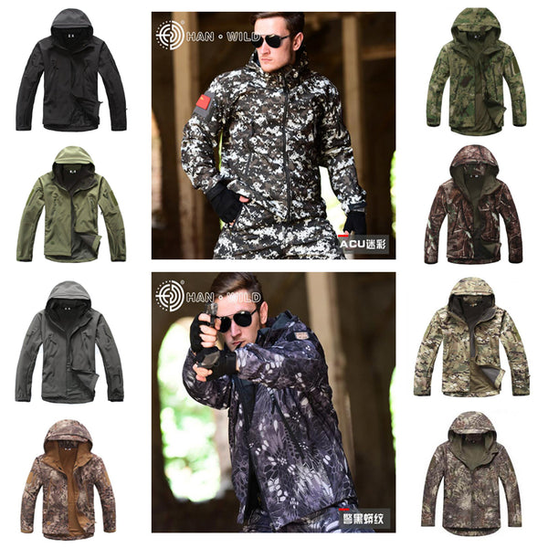 V 4.0 Lurker Softshell Jacket Men Tactical Jacket Outdoor Waterproof Windproof Camouflage Hunting Clothing