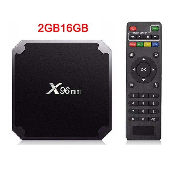 VONTAR X96 mini Android TV BOX X96mini Android 7.1 Smart TV Box 2GB 16GB Amlogic S905W Quad Core 2.4GHz WiFi Set top box 1GB8GB