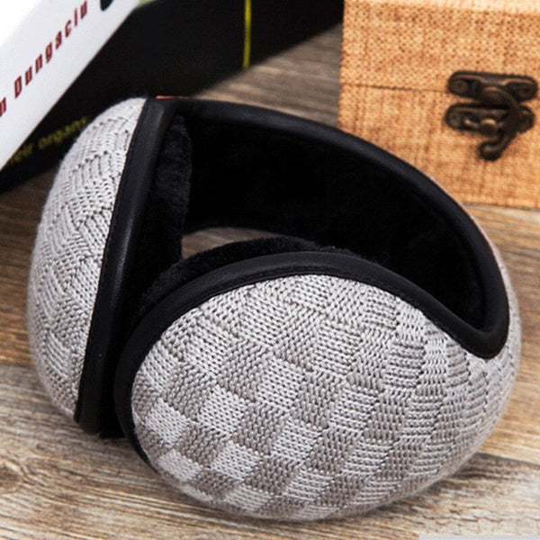Warm Earmuff Men Women Kitted Ear Muffs Plush Adjustable Winter Headband for Sport Cycling Riding FDC99