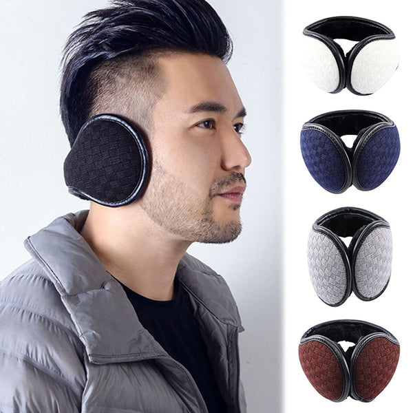 Warm Earmuff Men Women Kitted Ear Muffs Plush Adjustable Winter Headband for Sport Cycling Riding GDD99