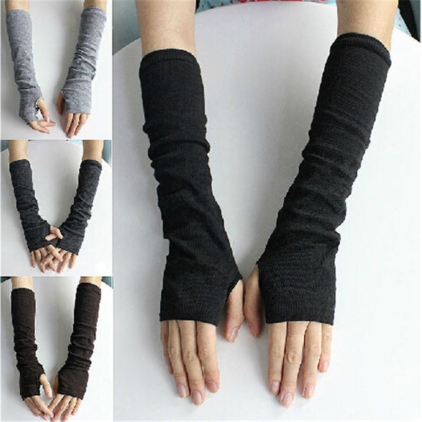 Winter Long Section Of Wool Fingerless Gloves Hot Color Can Be Customized Authentic Free Shipping Sleeve