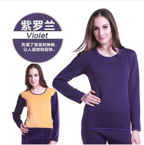 Winter Lover Thermal Underwear For Women Men Layered Clothing Pajamas Thermos Long Johns Velvet Thick Second Thermal Female Skin