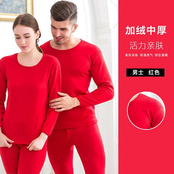 Winter Velvet Thick Lover Thermal Underwear Warm Suit Layered Clothing Pajamas Thermos Long Johns For Women Thermal Female Skin